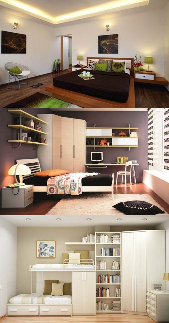 Easy interior design ideas for bedrooms with limited space - Limited space bedroom ideas ...