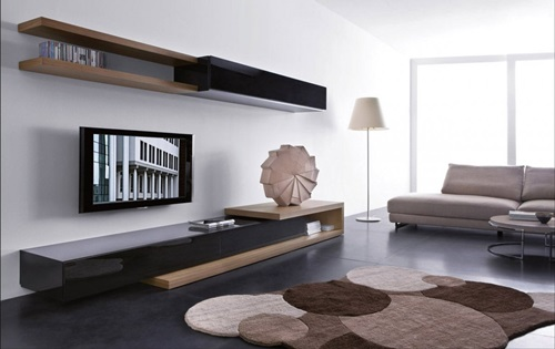 Elegant and Minimalist Apartment Decorated with Recycled Furniture
