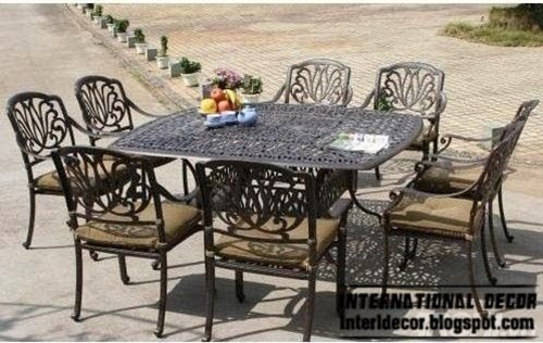How To Use Iron Framed Furniture For Decorating Indoor And Outdoor