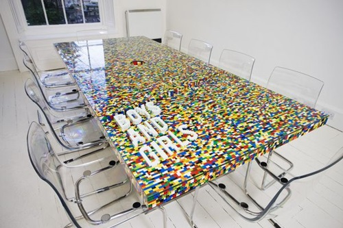 Lego blocks conference room how cool is that