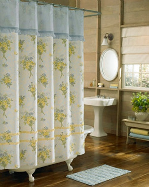 Bathroom curtains how to choose them and also keep the for Do shower curtains come in different lengths