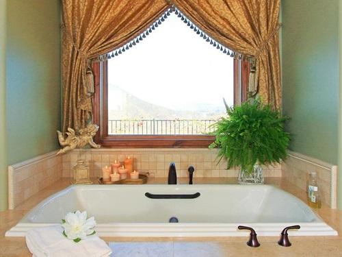 Luxury Bathroom Window Ready Made Curtains 4