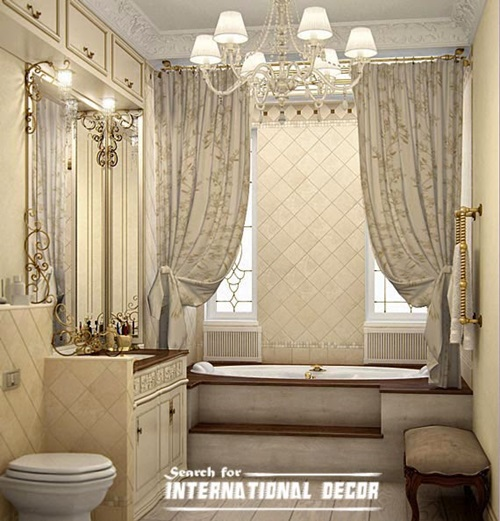 choose  luxury shower curtain interior design