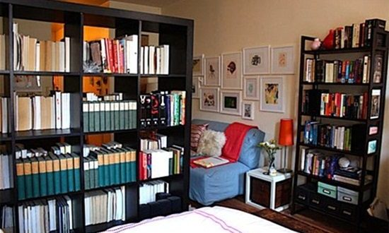 Save Space in Stylish way by using Modular Bookshelves and Room Divider