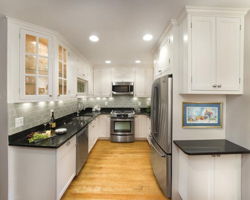 Designing Ideas white Simple Designing Ideas For Narrow Kitchens