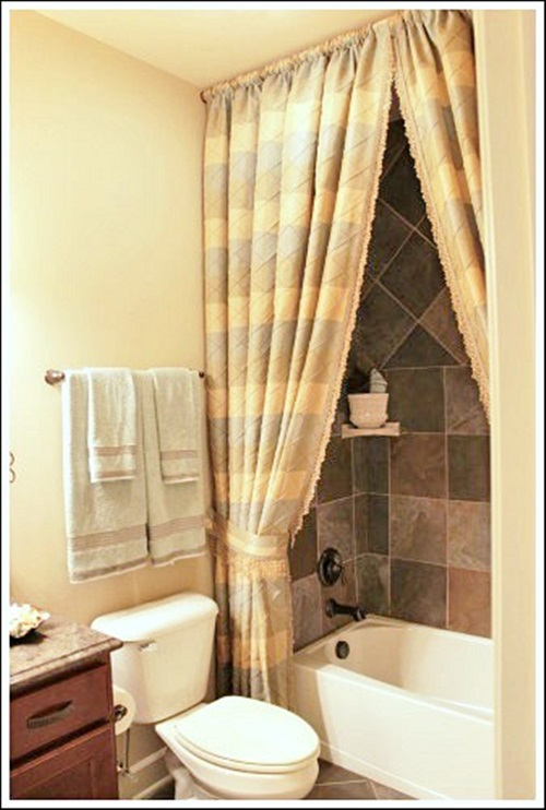 The importance of the shower curtains and having a beautiful homey bathroom interior design Bathroom decor ideas with shower curtain