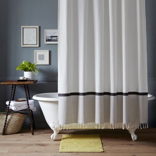 The importance of the shower curtains and having a beautiful, homey bathroom