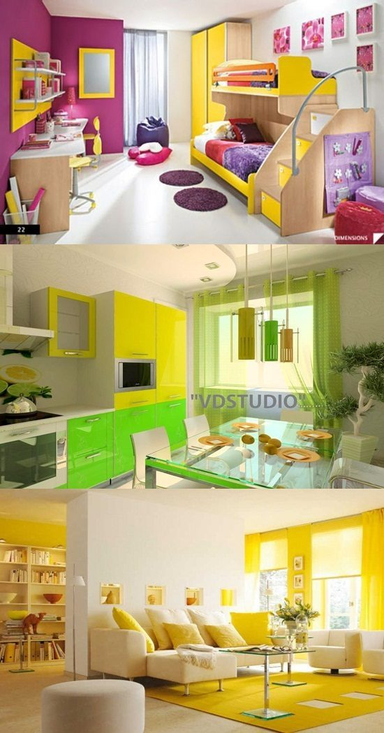 Yellow inspiring ideas for home interior decoration for Yellow home decorations