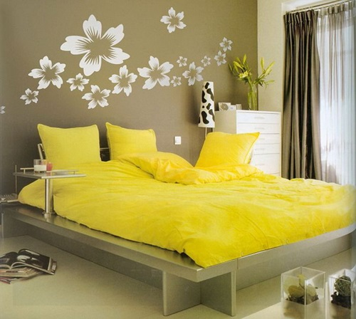 extraordinary simple master bedroom | Simple Tips To Use The Wall Stickers To Decorate Bedroom ...