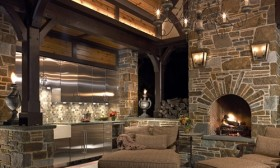Amazing Ideas for Modern Kitchens with Fireplaces