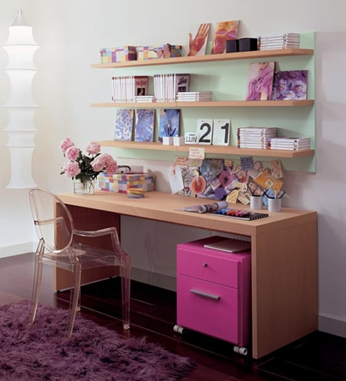 Whether you homeschool or need a space for homework hour, these budget study space ideas are sure to inspire. Long narrow desks, butcher block countertop, or two small desks side-by-side, can be used to create a workspace up against a wall.