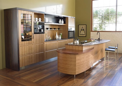 Amazing Modern Kitchen Bamboo Components