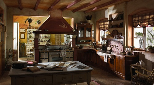 Charming Country Kitchen Designs with Italian Style