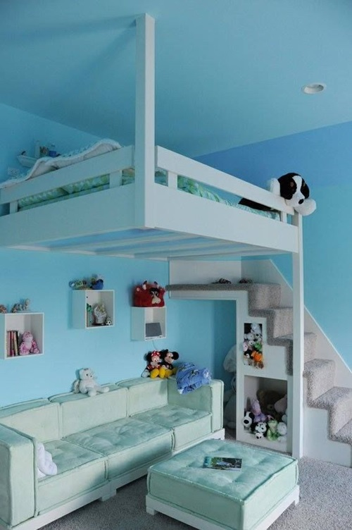 Creative space saving ideas for small kids 39 bedrooms - Space saving bunk beds for small rooms ...