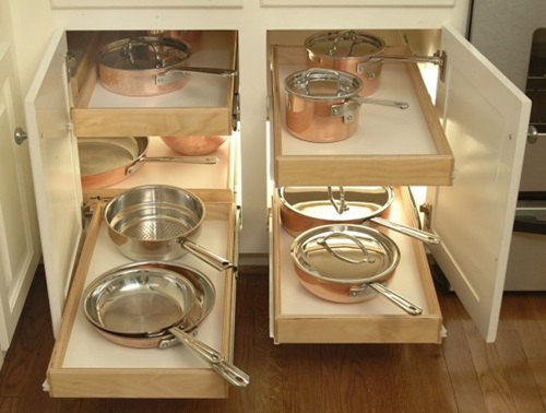 Innovative Sliding Cabinet Shelves to Save your Kitchen Space