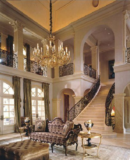 Beautiful Mansion Foyers : Luxurious staircase design ideas interior