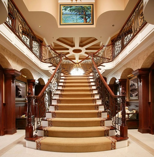 8 luxurious staircase design ideas interior design - Ideas about luxury homes interior design ...