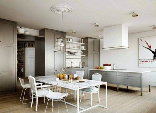 Modern All-in-one Kitchen Island Designs for Small Kitchens