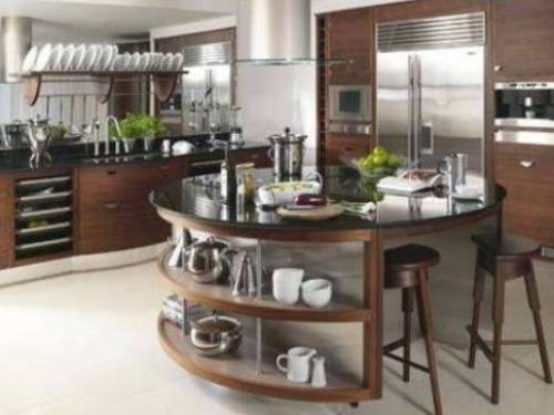 Modern Round Kitchen Island Interesting Ideas  Interior. Hanging Pan Racks For Kitchen. White Pull Out Kitchen Faucet. All In One Kitchen Appliance. Image Of Kitchen. Vintage Kitchen Colors. Kitchen Color Combos. Kitchen Faucets Denver. Kitchen Handle