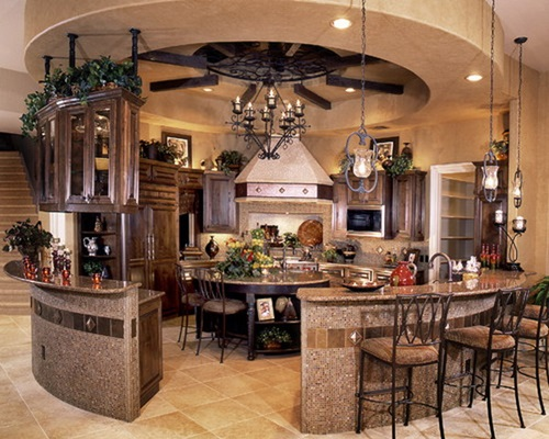 Modern round kitchen island interesting ideas interior for Kitchen island with rounded end
