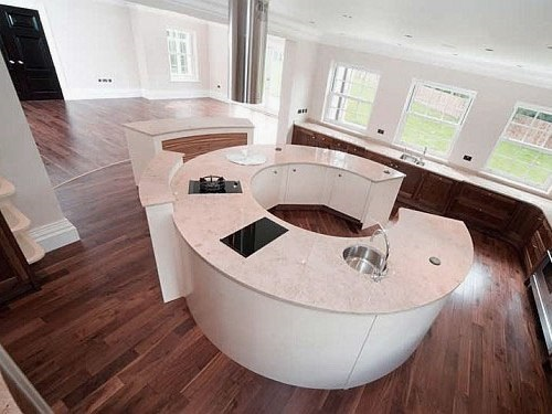 Round Kitchen Island interesting kitchen island round with a butcher block top design