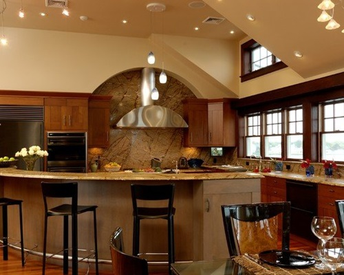 4 Brilliant Kitchen Remodel Ideas: Modern Round Kitchen Island Interesting Ideas