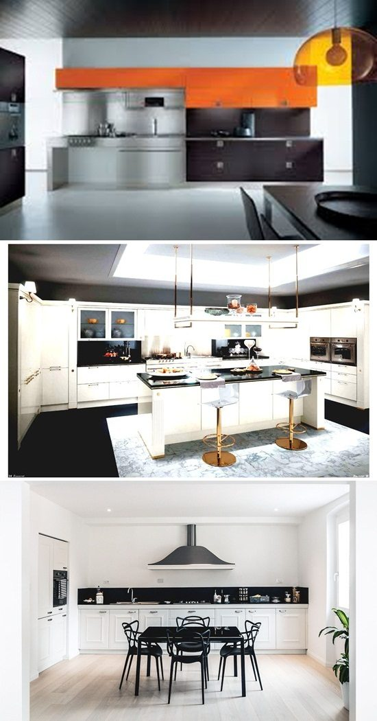 Spacious modern italian kitchen design ideas interior design for Italian modern kitchen design