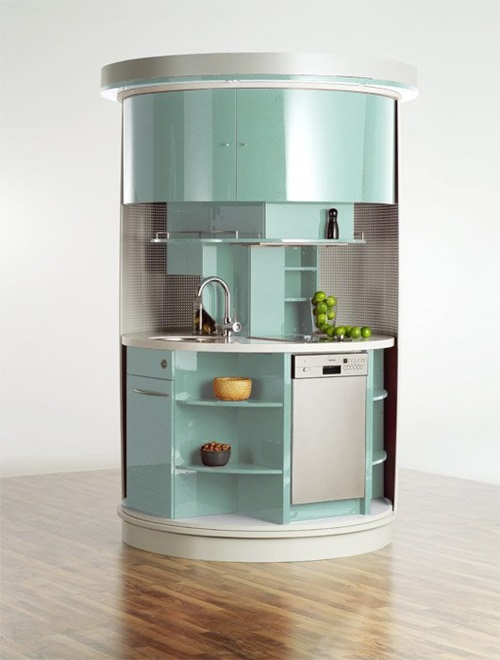 The Circular Compact Kitchen as a Small Space Solution