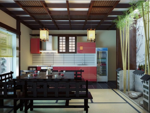 Traditional Japanese Kitchen Knife and Island Designs