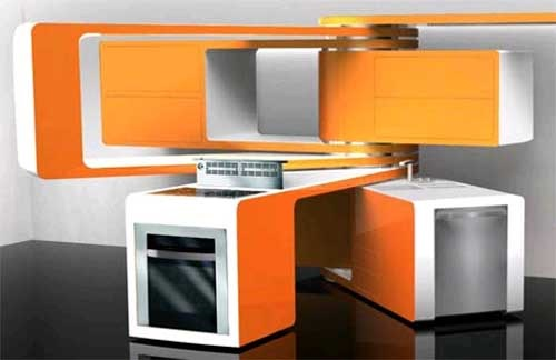 Ultramodern Kitchens with Movable Components