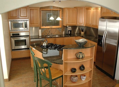 Useful tricks to maximize the space of your small kitchen interior design - Very small kitchen ideas ...