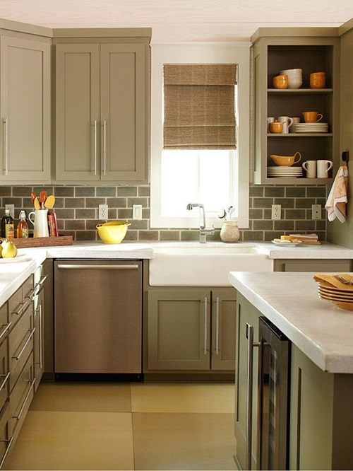 4 great tricks for making your small kitchen look larger for Looking for kitchen