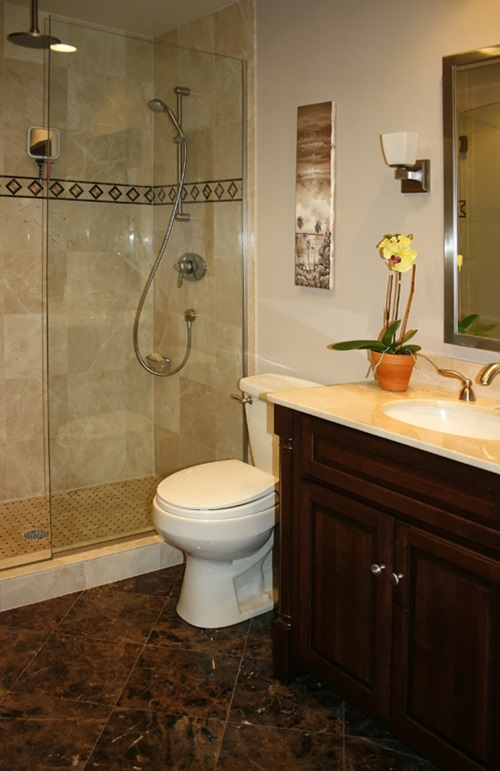 Tips On Bathroom Design : Tips to help you with decorating your tiny bathroom