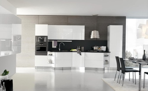 5 great tips for decorating black and white modern for Luxury kitchen designs 2012
