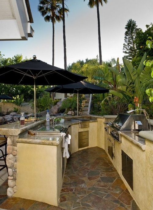 Affordable ideas for amazing outdoor kitchens interior for Amazing tropical kitchen design