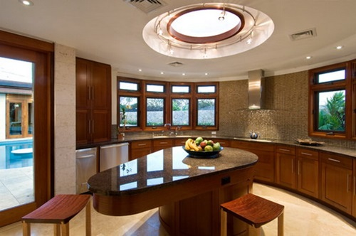 Amazing Modern Curved Kitchen Design Ideas