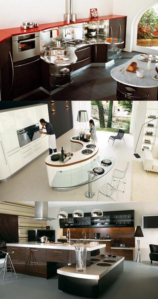 Interior Design Girls Kitchen: Amazing Modern Curved Kitchen Design Ideas