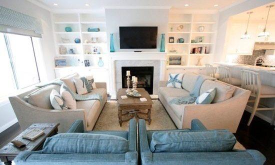 Breezy Beach Living Room Decorating Ideas