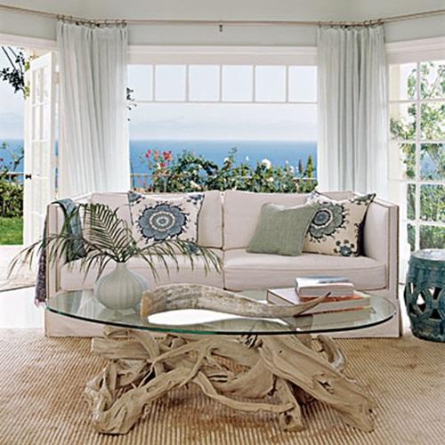 breezy beach living room decorating ideas - interior design