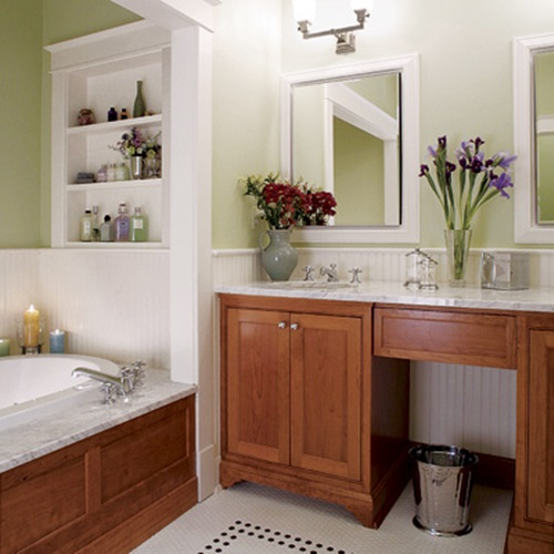 Brilliant big ideas for small bathrooms interior design for Small 4 piece bathroom designs