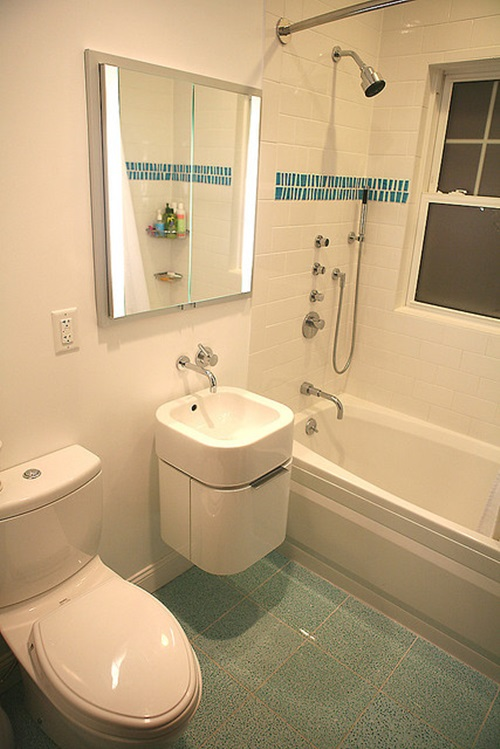 Brilliant Big Ideas for Small Bathrooms - Interior design