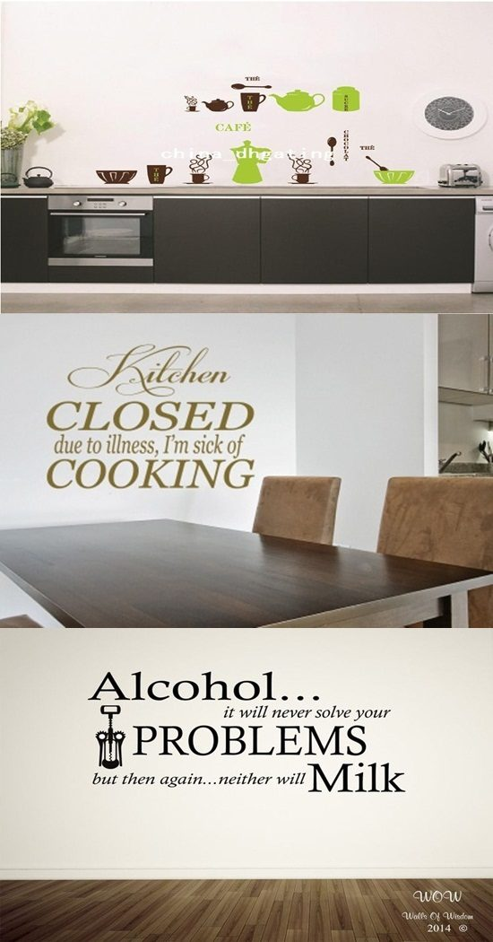 Cool Vinyl Stickers to Decorate your Kitchen Walls