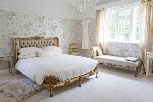 Elegant French Boudoir Themed Bedroom Style ...