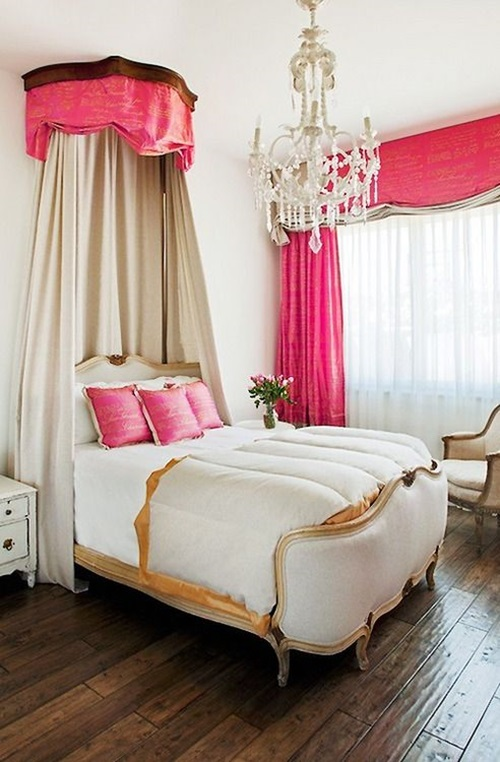 elegant french boudoir themed bedroom style interior design