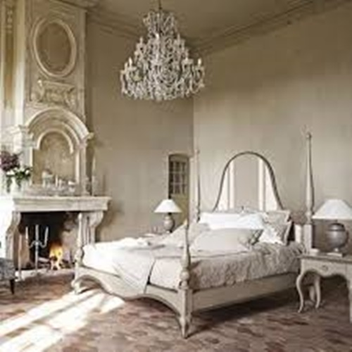 Elegant french boudoir themed bedroom style interior design for French bedroom design