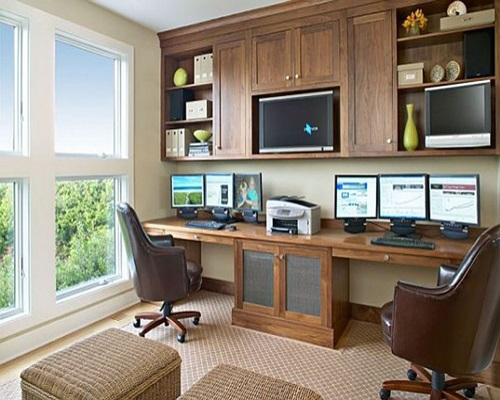 Fabulous Home Office Desk Designs for Living Rooms