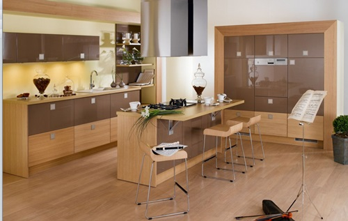 Modernize Your Modern Kitchen with Gorgeous Black and Orange Furniture