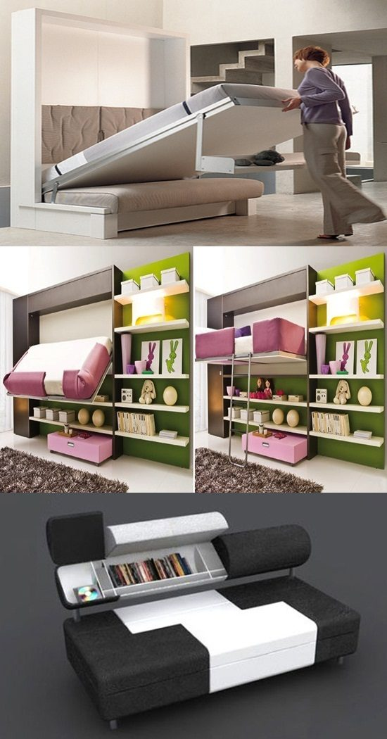 3 Great Multi purposed Furniture Ideas