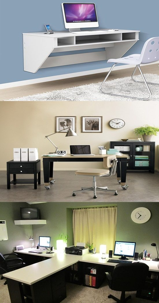 7 great solutions for saving space in your small office interior design - Small office space solutions plan ...