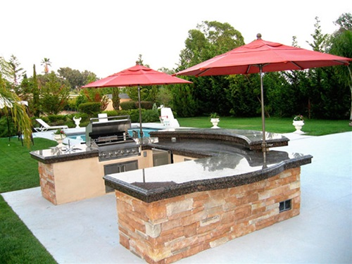 fabulous brick outdoor kitchen   Become one with Nature with a Fabulous Electrolux Modern ...